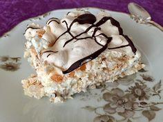 Brittatårta / marängtårta med chokladkräm | Fru Lilja Bread Cake, Fika, Rice Krispies, Tart, Cheesecake, Deserts, Goodies, Food And Drink, Gluten Free