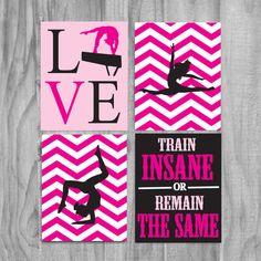 Gymnastics, Cute Gifts Wall Art decor quote sale kids girls print