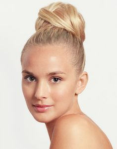 This updo will really show off a sparkly pair of Swarovski crystal earrings