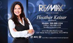 Remax business card design graphic design pinterest business remax business cards with photo reheart Images