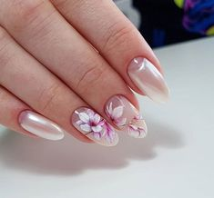 Нетипичный Маникюр Acrylic Nail Art, Glitter Nail Art, Cute Nails, Pretty Nails, Different Types Of Nails, Natural Nail Designs, Nagellack Trends, Almond Shape Nails, Manicure Y Pedicure