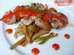 Ris de veau réglissé, fenouil grillé, coulis de poivron - SAVEUR PASSION