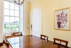 The dining area: The homeowner can reach the dining room via the main door, or through the...