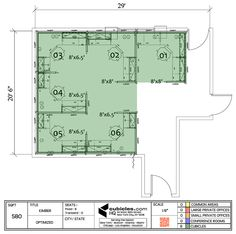 Office furniture floor plan for a small office for Cubicle floor plan