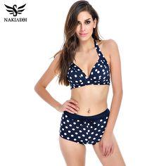 $25.10 (Buy here: https://alitems.com/g/1e8d114494ebda23ff8b16525dc3e8/?i=5&ulp=https%3A%2F%2Fwww.aliexpress.com%2Fitem%2F2016-New-Bikinis-Women-Swimsuit-Plus-Size-Swimwear-High-Waist-Bathing-Suit-Push-Up-Bikini-Set%2F32685031058.html ) NAKIAEOI 2016 New Bikini Women Swimsuit Plus Size Swimwear High Waist Bathing Suit Push Up Bikini Set Beach Padded Dot Swim Wear for just $25.10
