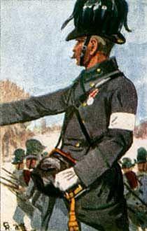 Österreich-Ungarn 1864: Offizier v. österreichischen Feld-Jäger-Batl. Nr. 9
