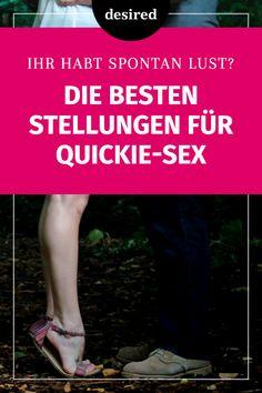 Hattest du schon mal einen Quickie? Dann weißt du sicher, wie aufregend und heiß das kurze, intime Intermezzo sein kann. So richtig berauschend wird der Quickie-Sex allerdings erst, wenn ihr für den Quickie auch die richtige Stellung findet… #sex #sexstellungen #stellungen #sexpositionen #positionen #liebe #beziehung #quickie #heiss Tantra, Fitness Workouts, Let Them Talk, Let It Be, Erotica, Good To Know, Self Love, Massage, Germany