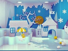 Kindergarten Winter wonderland- this could never happen in my room, but it's great inspiration for a board.