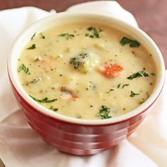 Broccoli Cheese Soup - Compared to some broccoli cheese soups, this one looks pretty healthy.