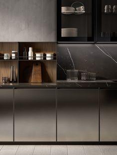 Renovate and relook kitchen shelves - HomeDBS Metal Kitchen Cabinets, Kitchen Shelves, Kitchen Furniture, Kitchen Interior, New Kitchen, Kitchen Dining, Kitchen Decor, Küchen Design, Layout Design