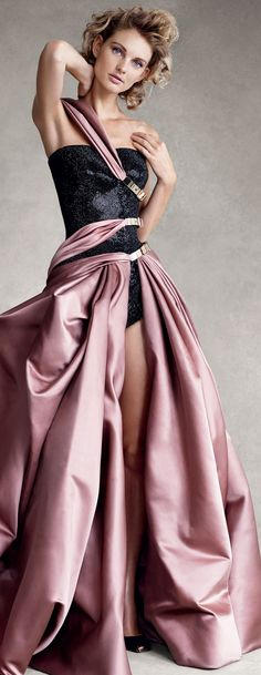 Atelier Versace. RushWorld says this is TREND-IMPOSSIBLE. There is way too much going on here and nothing makes sense. Enjoy RushWorld boards,  UNPREDICTABLE WOMEN HAUTE COUTURE,  WTF FASHIONS and WELCOME TO HELL HERE ARE YOUR SHOES.  See you at RushWorld on Pinterest!