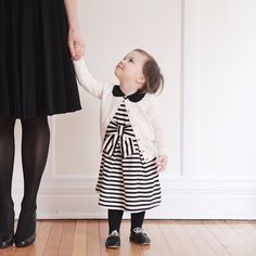 """""""Jane and I wore @katespadeny to church yesterday. Their new children's line has so many cute details. """""""