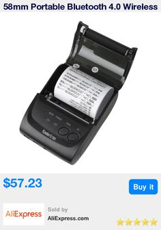 58mm Portable Bluetooth 4.0 Wireless Receipt Thermal Printer  USB Interface For Android PC Black US Plug * Pub Date: 17:19 Apr 15 2017