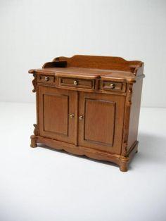 Dollhouse Miniature Famous Maker Furniture 80054 Walnut Wash Stand