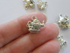6 Teapot and teacup charms   double sided   13 x by nicoledebruin, $2.50