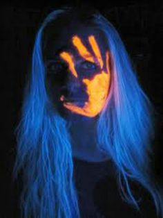 glow in dark people paint | Glow in the dark face paint | Easter Egg Hunt Crafts