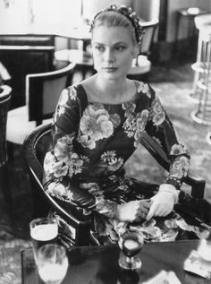 Grace Kelly waiting to meet Prince Rainier for the first time photographed by Edward Quinn, 1955