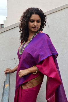 bright and gorgeous silk cotton #saree