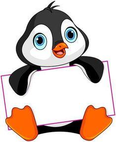 Illustration about Cute Penguin holds a sign. Illustration of artworks, celebrating, image - 53278560 Art Drawings For Kids, Cute Drawings, Pinguin Drawing, Pinguin Illustration, Wall Painting Decor, Penguin Art, School Labels, School Frame, Cute Penguins