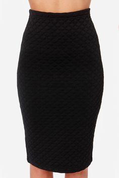 $40 // Jack by BB Dakota Blake Quilted Black Skirt at Lulus.com!