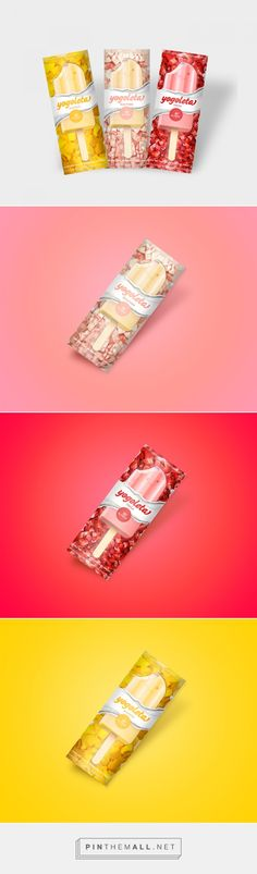 Yogoleta yogurt ice cream bars by Karen Santiago. Source: Daily Packaging Inspiration. Pin curate by #SFields99 #packaging #design