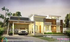 1600 sq-ft modern single floor Kerala home