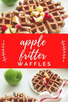Apple Fritter Waffles bring the taste of fall to your table with fresh apple bits in every bite and topped with a dreamy glaze. Apple Fritters, Fresh Apples, Waffles, Healthy Options, Breakfast Ideas, Abundance, Glaze, Food, Table