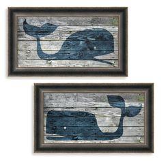 Driftwood Whale Wall Art