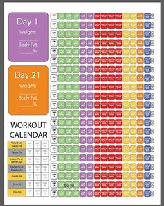 Printable 21 Day Fix Pages