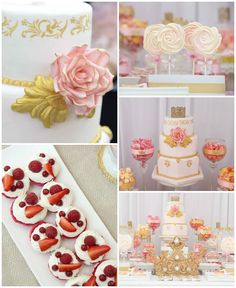 Pink & Gold Princess Party via Kara's Party Ideas | KarasPartyIdeas.com (1)