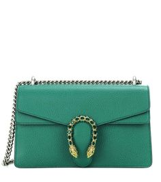 Dionysus Small green leather shoulder bag by Gucci