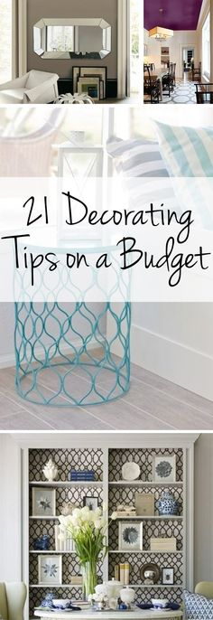 21 Decorating Tips on a Budget