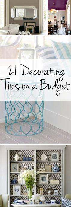 Decorating tips, budget decorating, frugal home interior design, interior design, popular pin, decorating hacks, frugal decorating.