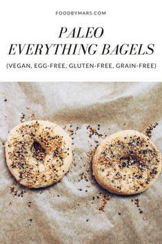 Paleo Everything Bagels (vegan, egg-free) via Food by Mars
