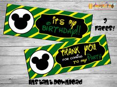 Printable Mickey bag toppers- DIY birthday bags - Mickey Birthday Labels - Mickey Mouse birthday - Printable Mickey Decoration-Bag toppers by Chumelito on Etsy