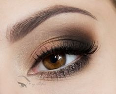 Simple Chic and everyday look.  Could mix it up with a pop of color on the bottom lash line