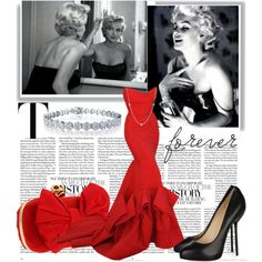 """""""Marilyn"""" - in white as a wedding dress and 'Old Hollywood' styling ♥ Wowzers..."""