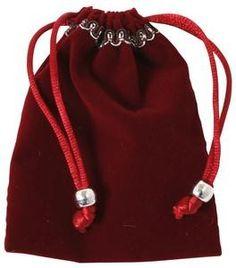 Bartl, Samtsäckchen, Rot,exklusiv klein, Samtbeutel, mit Bordüre und Kordel | 6423 / EAN:4032821011855