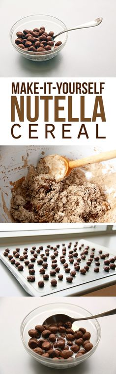 I have never even thought about the possibility of making my own cereal, let alone Nutella! This goes on the list to try for sure.