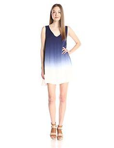 7b0c7be5e4 BB Dakota Womens Gisela Dip Dye Rayon Dress Blue XSmall -- You can get  additional