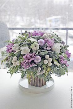 Make-Up Art Weihnachten - Gif Life Christmas Flower Arrangements, Christmas Centerpieces, Xmas Decorations, Flower Decorations, Floral Arrangements, Christmas Tables, Wedding Decoration, Purple Christmas, Christmas Flowers