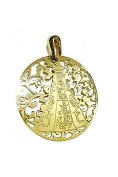 Medalla Nuestra Señora de Begoña Plata Chapada en Oro 40mm