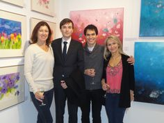 """My lovely """"family"""" at the Art for Youth Exhibition in London 2014 www.laurebury.com"""