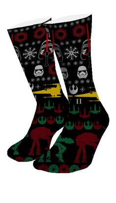 May the force be with you and so are these socks! Featuring 4 different knitted star wars pattern, you'll be as fly as the Starships. • Comes all standard Sizes (Small, Medium & Large) • Reinforced he