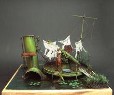 Sokol 1/35 scale diorama with a Sokol Russian torpedoboat | jbadiorama