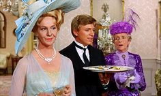 THE HAPPIEST MILLIONAIRE ~ the uncut version is the best Here, another great lady of film, Geraldine Page, trades thinly-veiled barbs with Gladys Cooper Disney Live Action Films, Disney Films, Sherman Brothers, Tommy Steele, Geraldine Page, Tv Funny, Agnes Moorehead, Faye Dunaway, Star Pictures