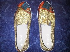 African print (Ankara) shoes by Kuukua.