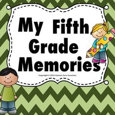 My Fifth Grade Memory Book. This memory book is a great product to help your students remember their fantastic 5th grade year that they had with you! This product has many different backgrounds and pages that will give your students a variety of ways to document their year.Includes Pages*Photo page for student *Photo page for class*Photo page for my family*Photo page for best friend*Photo page for teacher*Photo page for student last day *I love my teacher*I love my best friend*I love my…