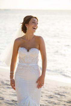 Inbal Dror Wedding Dress - Beautiful Beach Wedding in The Turks & Caicos Islands: Susana & Peter - Wedding credits photography: anita marcus & david gallardo of brilliant studios