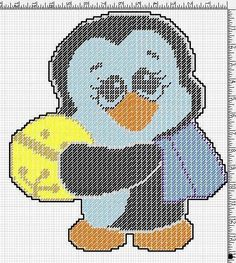 HOLIDAY PENGUIN WITH A YELLOW ORNAMENT by JODY VIGEANT - CHRISTMAS WALL HANGING